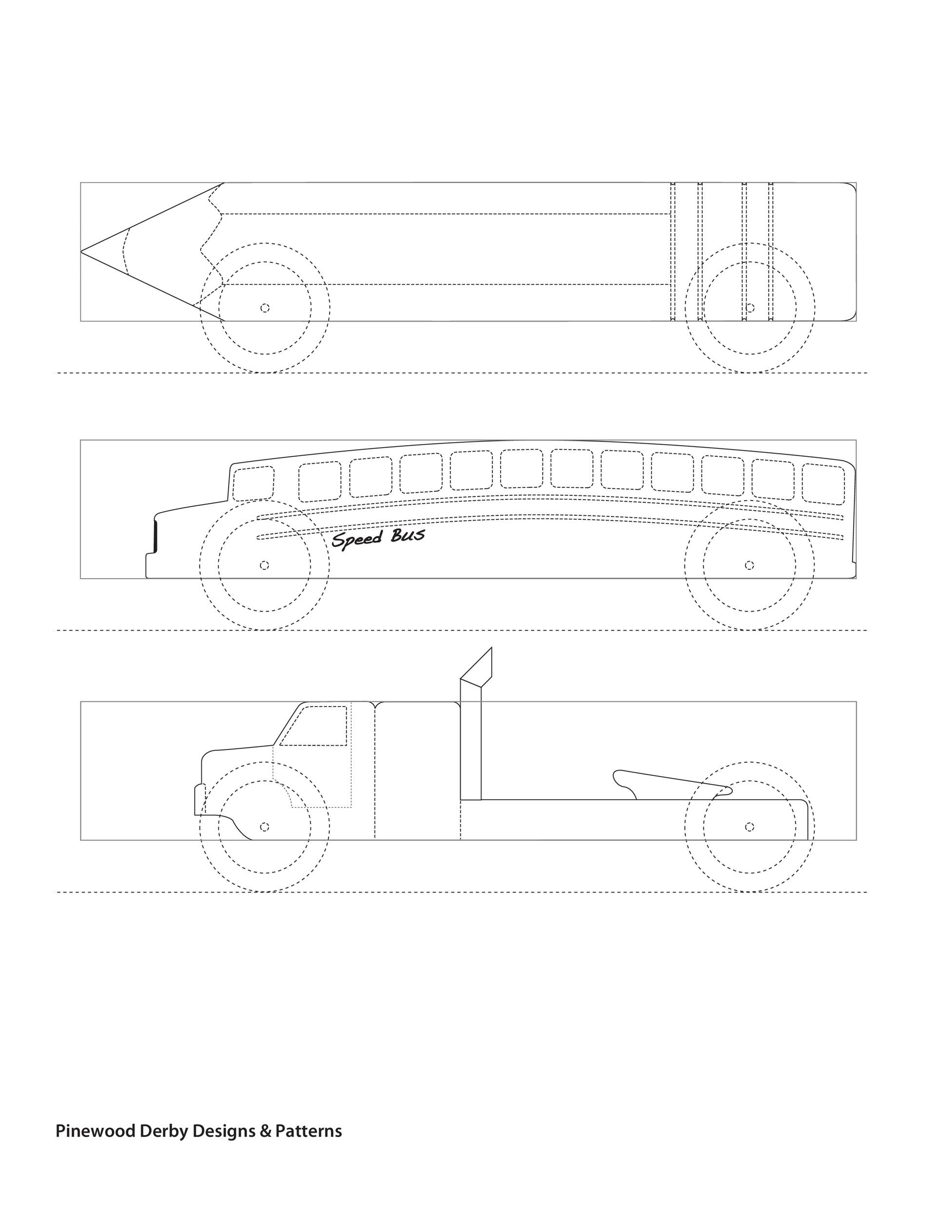 Free pinewood derby templates 35
