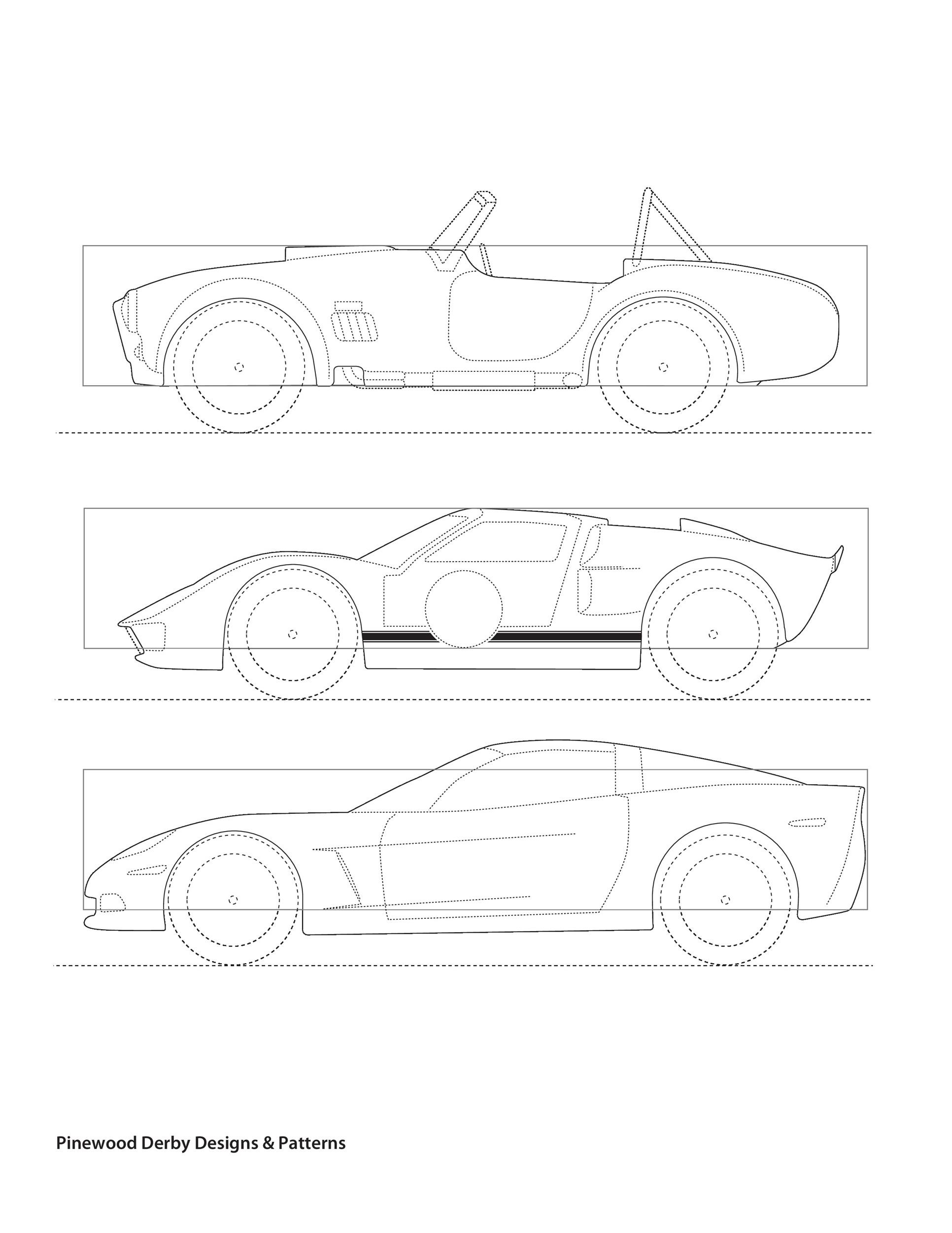 Delicate image intended for printable pinewood derby templates