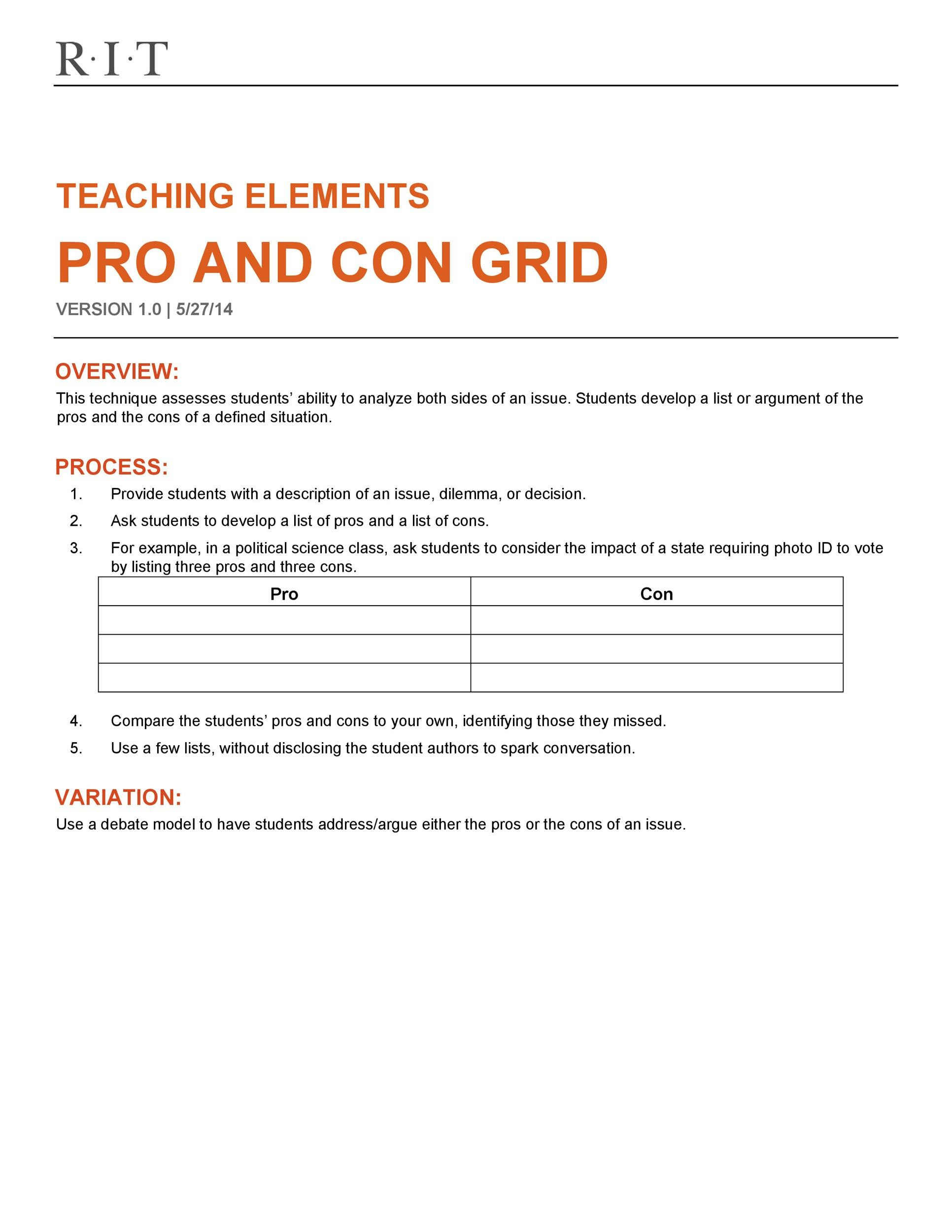 Free pros and cons 19