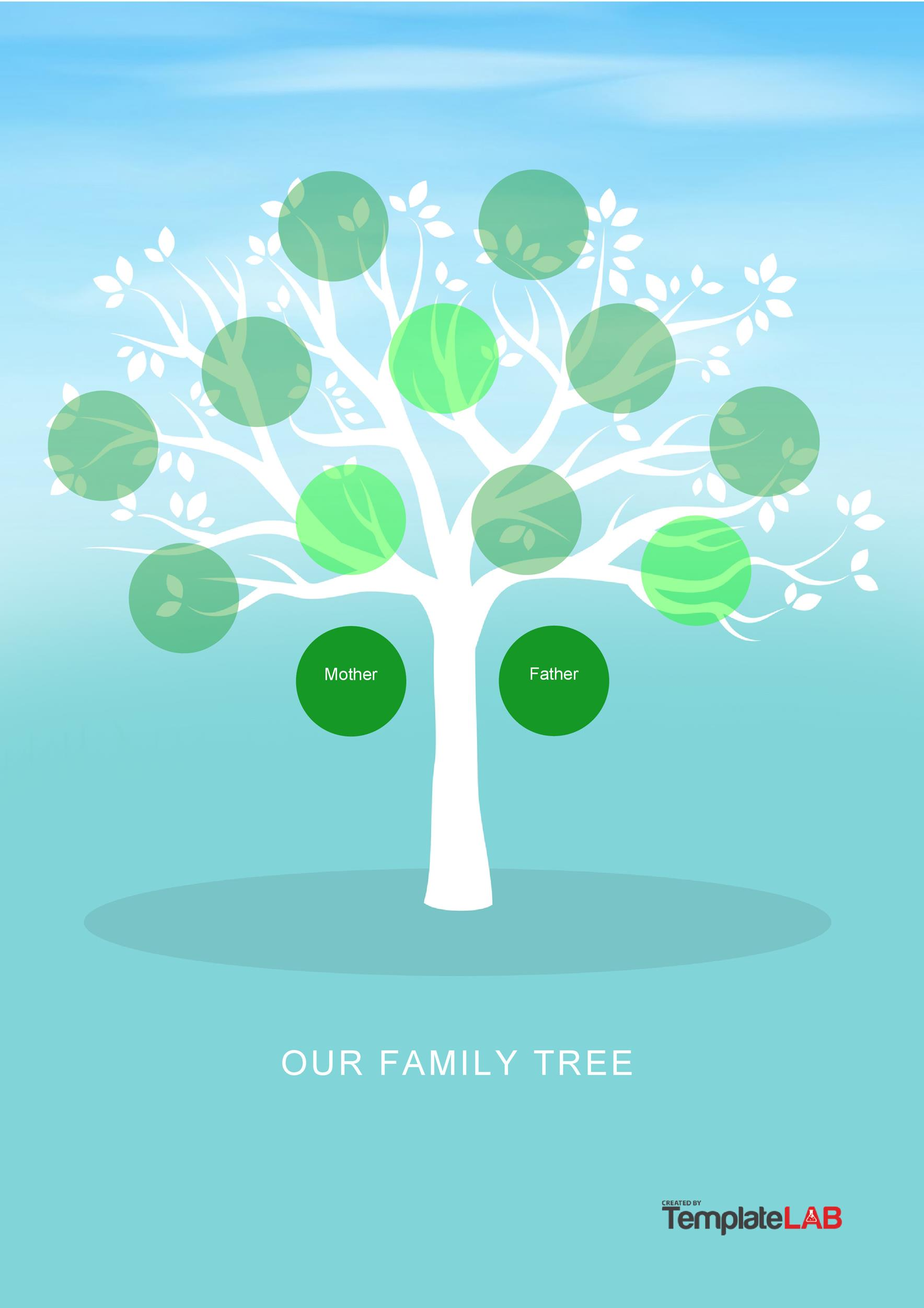 50+ Free Family Tree Templates (Word, Excel, PDF) ᐅ