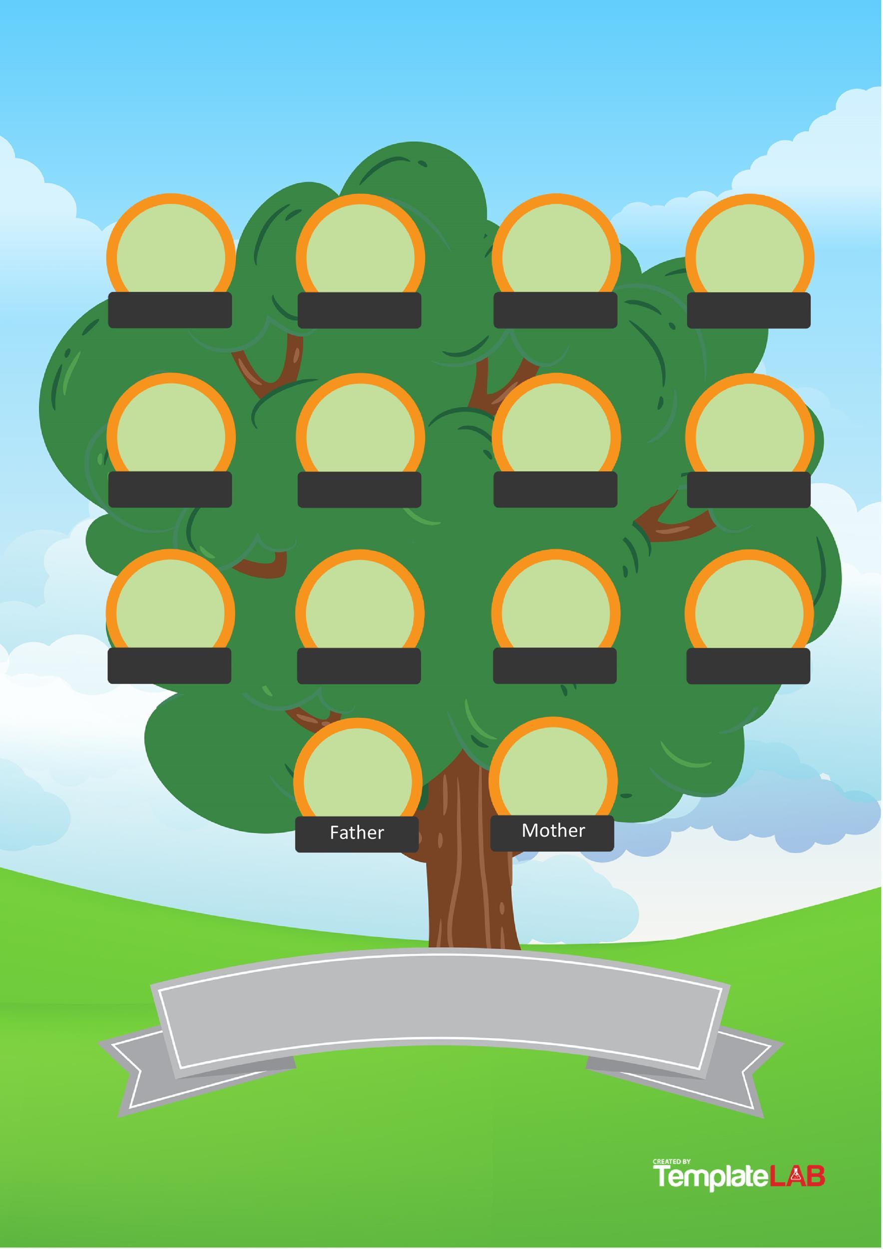 41 Free Family Tree Templates Word Excel Pdf Á… Templatelab