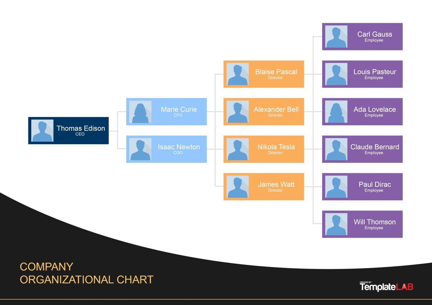 Organization Chart Template Word from templatelab.com