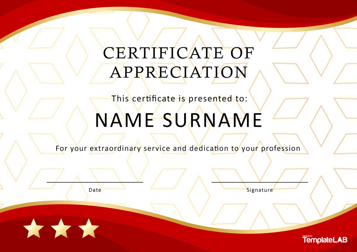Free Certificate of Appreciation for Employees 02