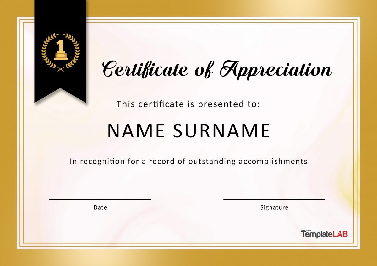 Free Certificate of Appreciation for Employees 04