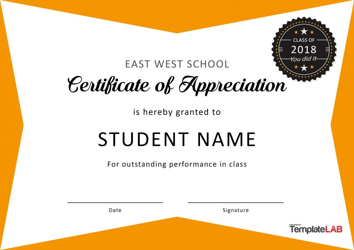 Free Certificate of Appreciation for Students 04
