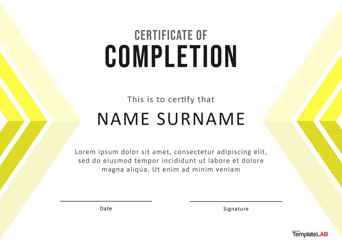 Free Certificate of Completion 10