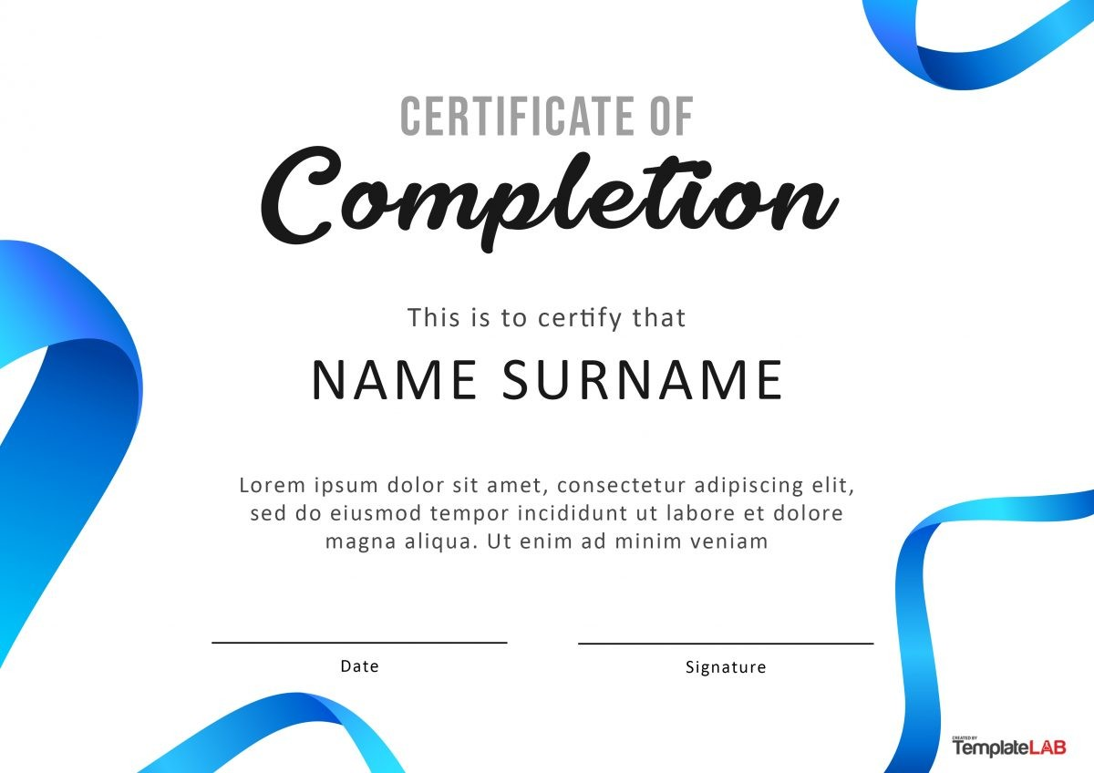 Free Certificate of Completion 11