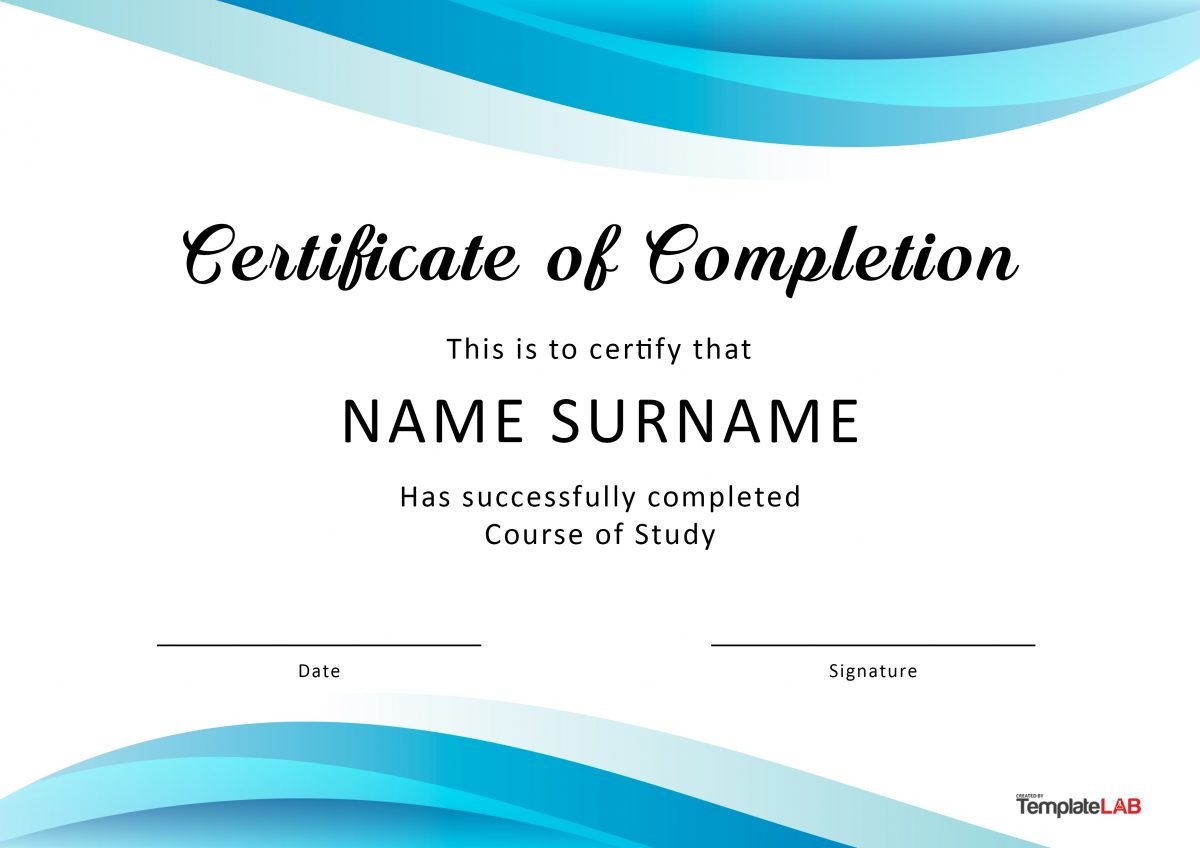 Free Certificate of Completion 2