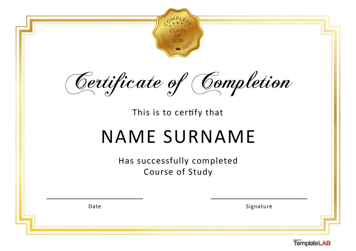 free certificate of completion 3