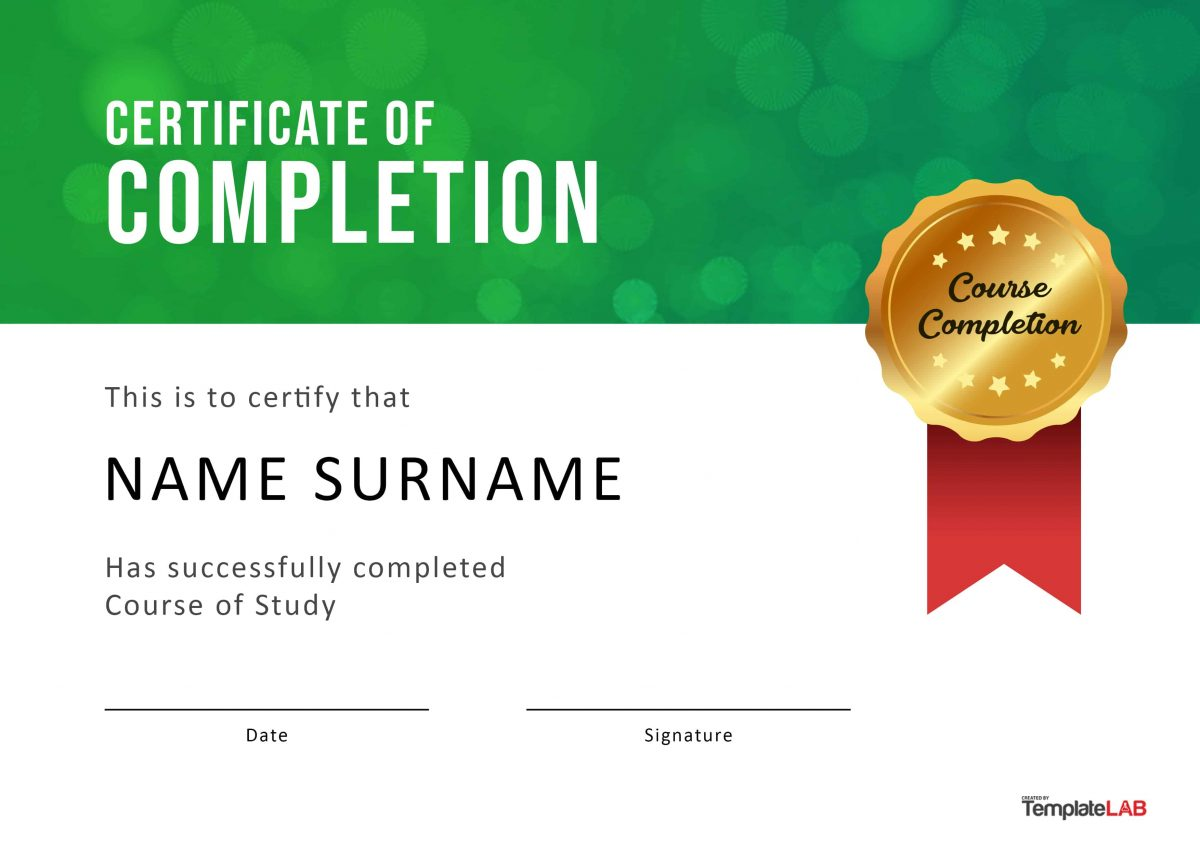 Free Certificate of Completion 4