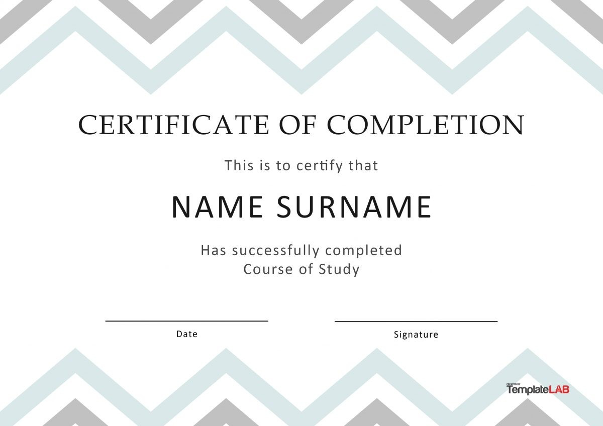 Free Certificate of Completion 5