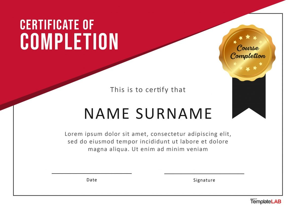 Free Certificate of Completion 7