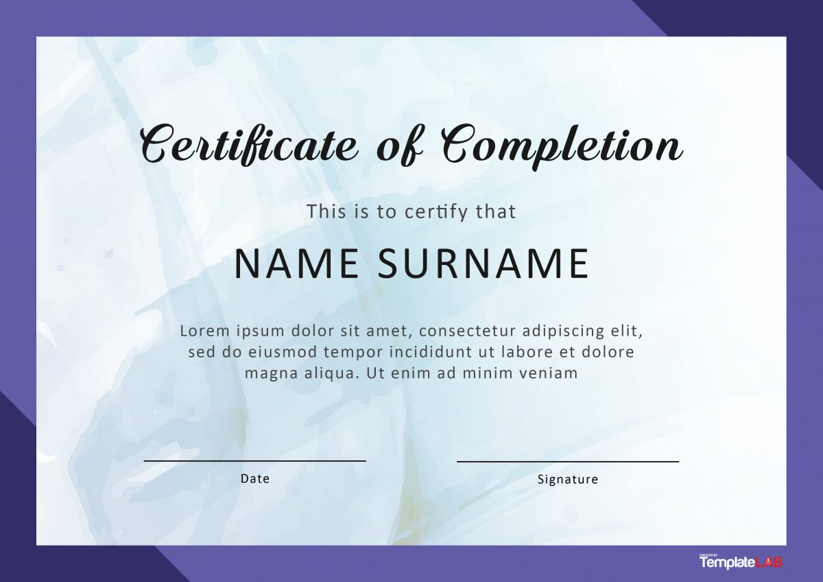 Free Certificate of Completion 8