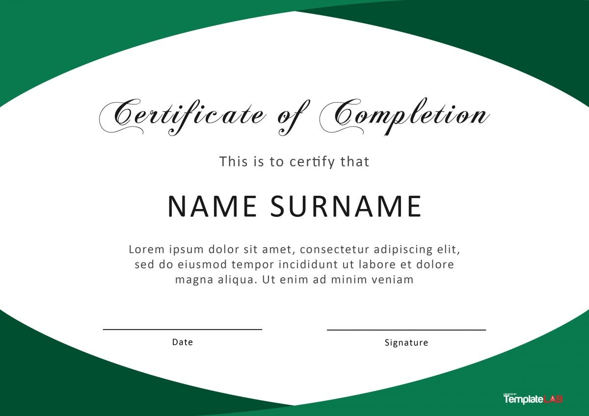 Free Certificate of Completion 9