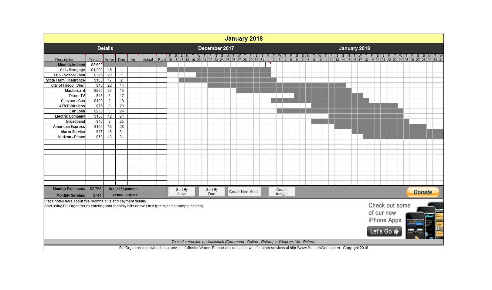 Free bill pay checklist template 05