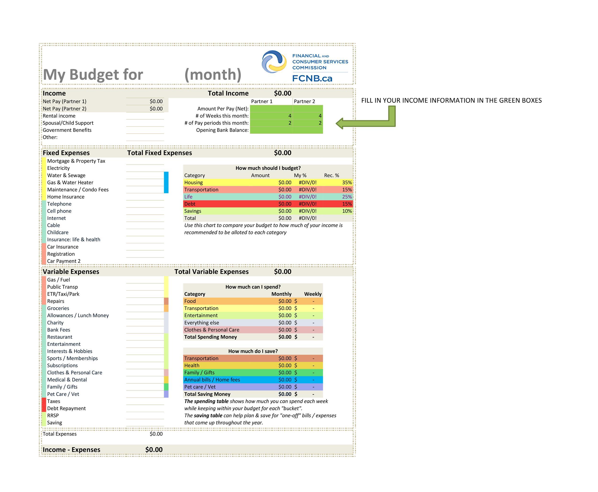 Free bill pay checklist template 09