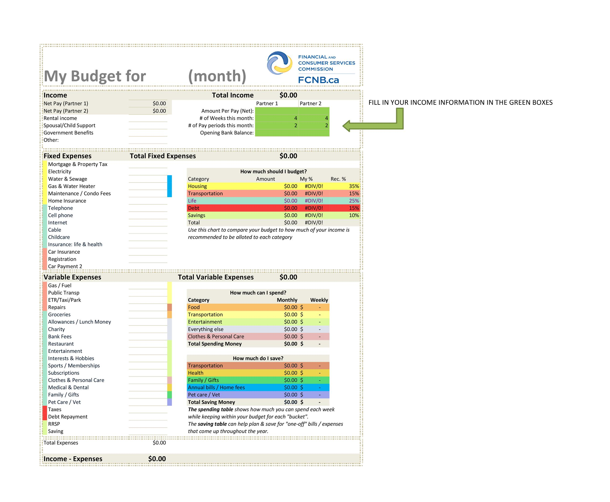 Free bill pay checklist template 09