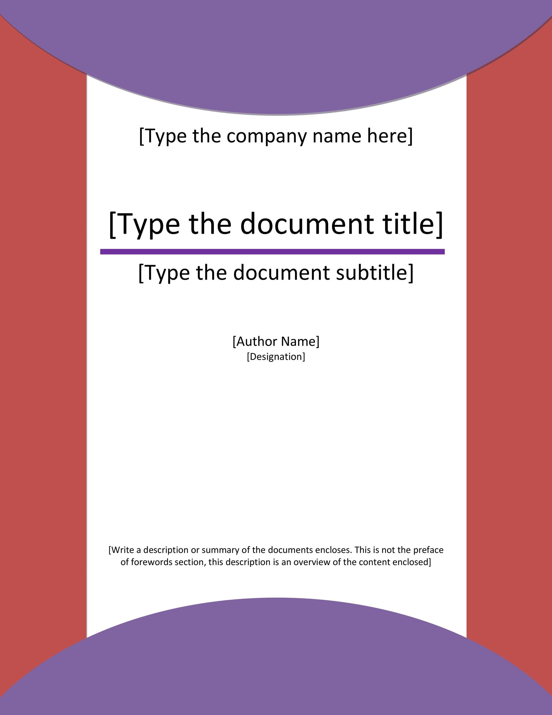 Free cover page template 03