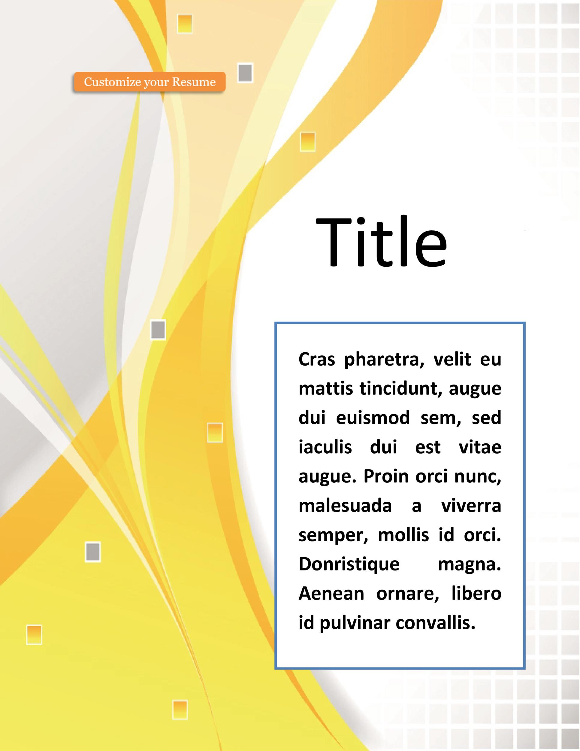 Free cover page template 04