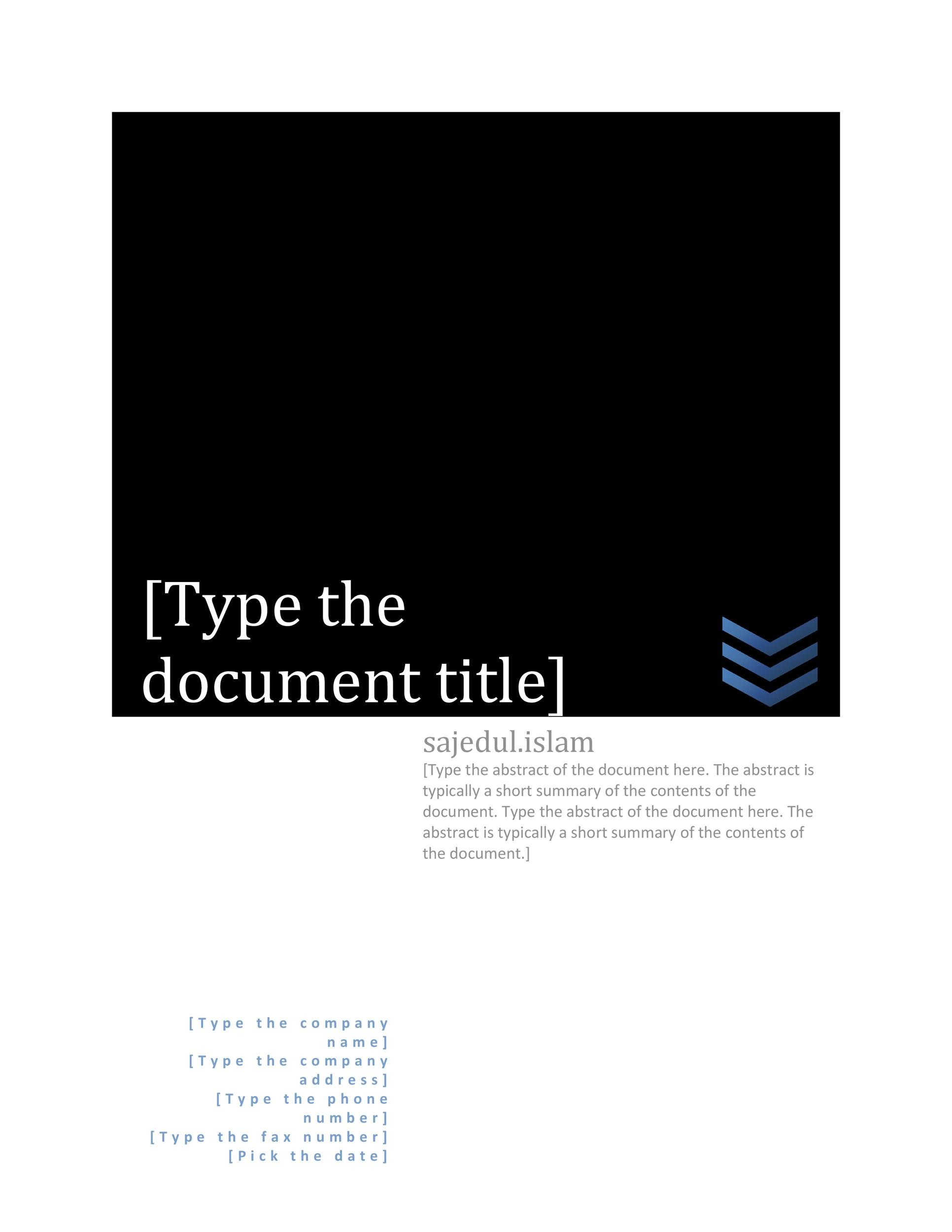 Free cover page template 07