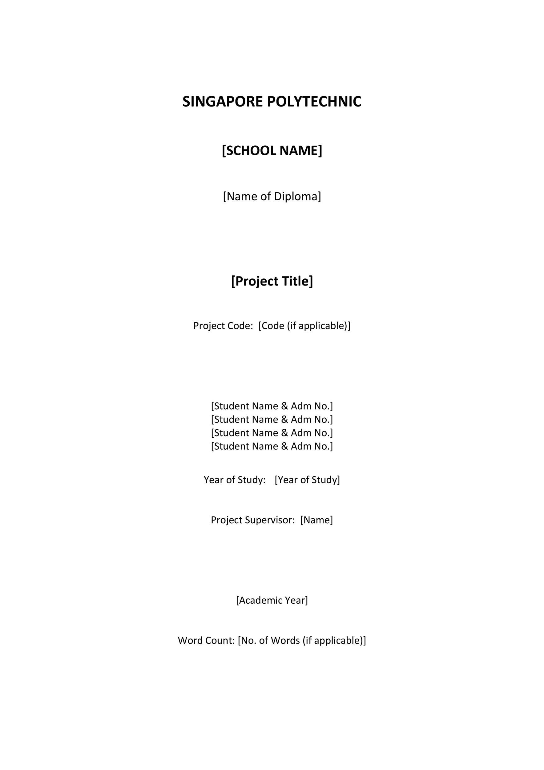 Free cover page template 15