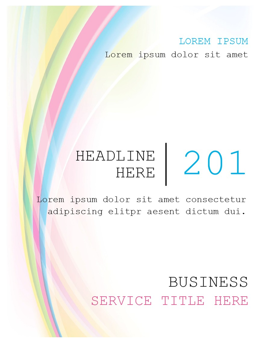 Free cover page template 19