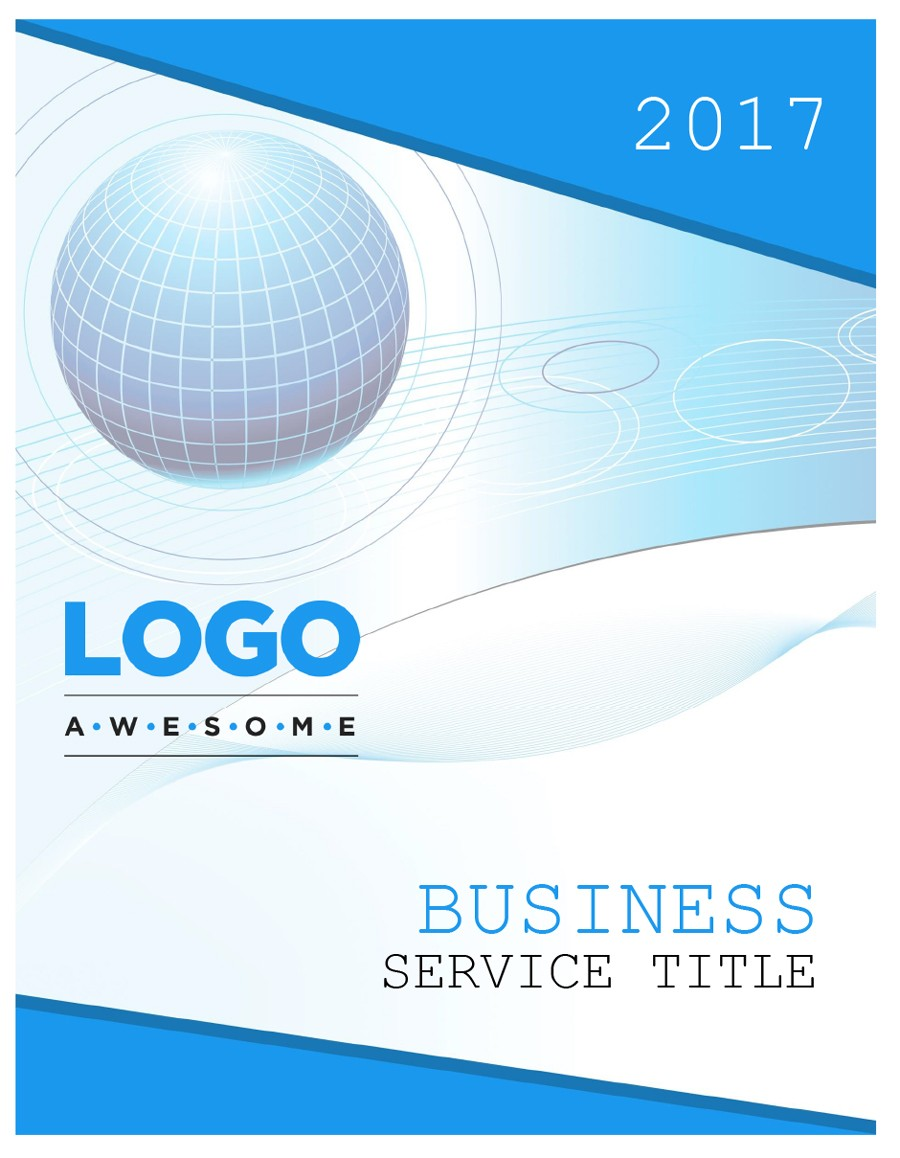 Free cover page template 23