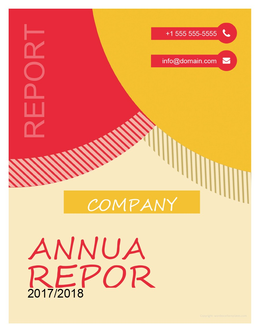 word report cover templates