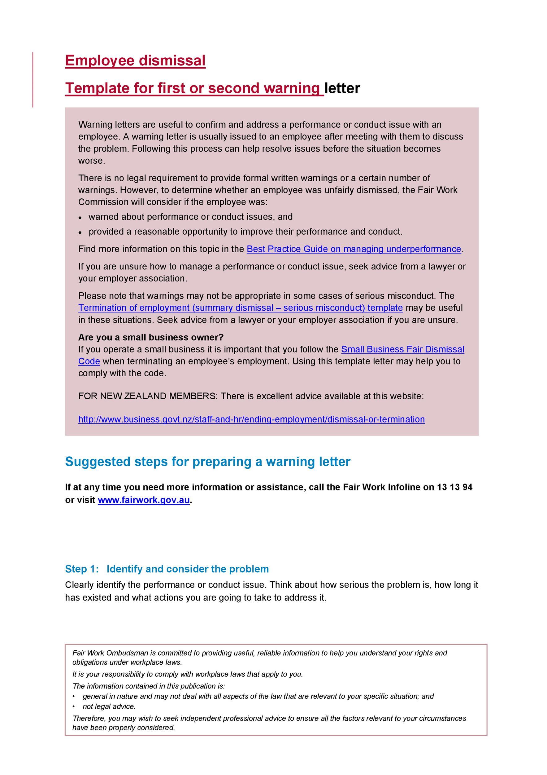 Free employee warning letter 02