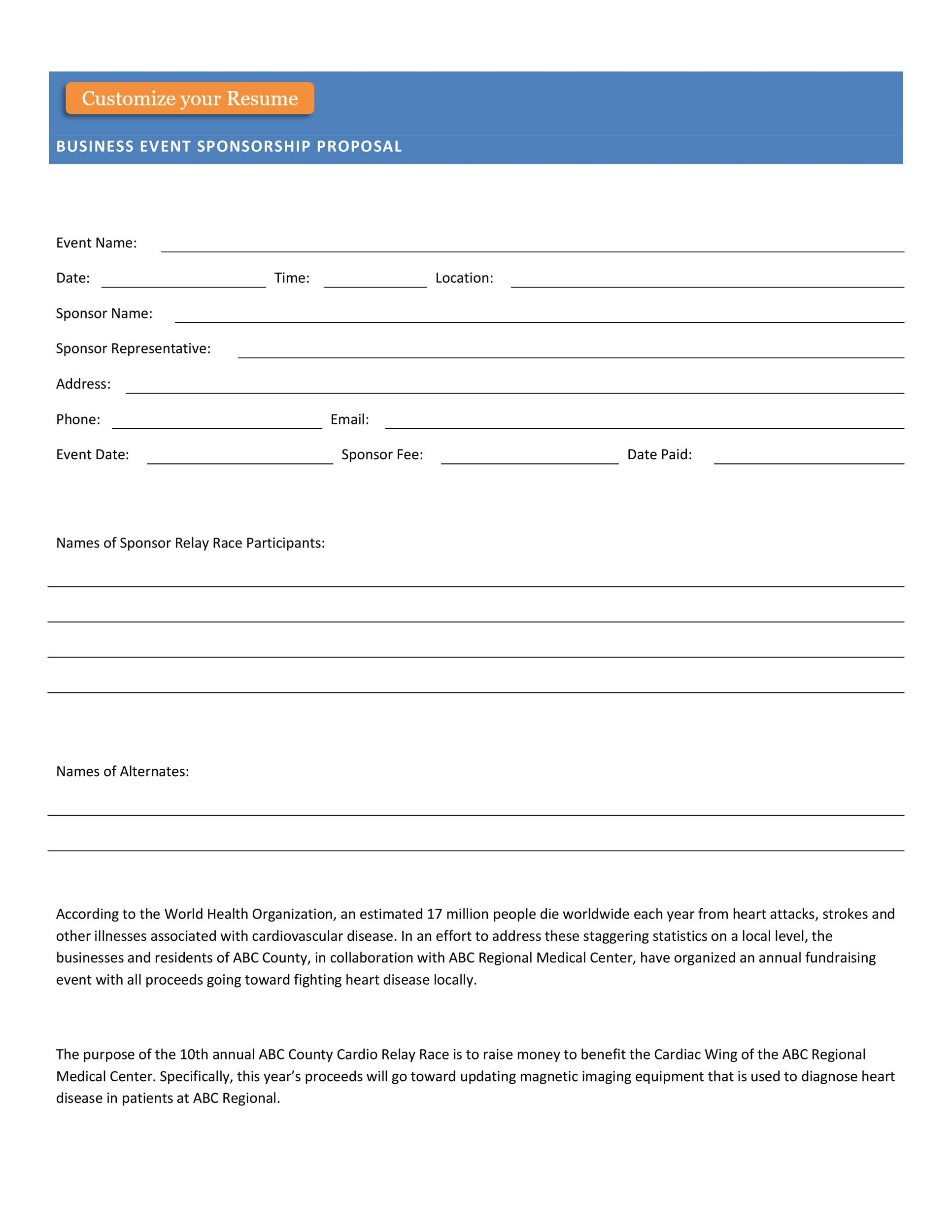 Free event proposal template 02