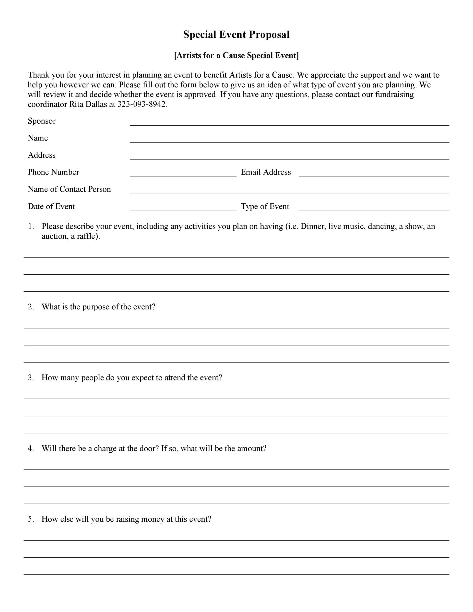 Free event proposal template 03