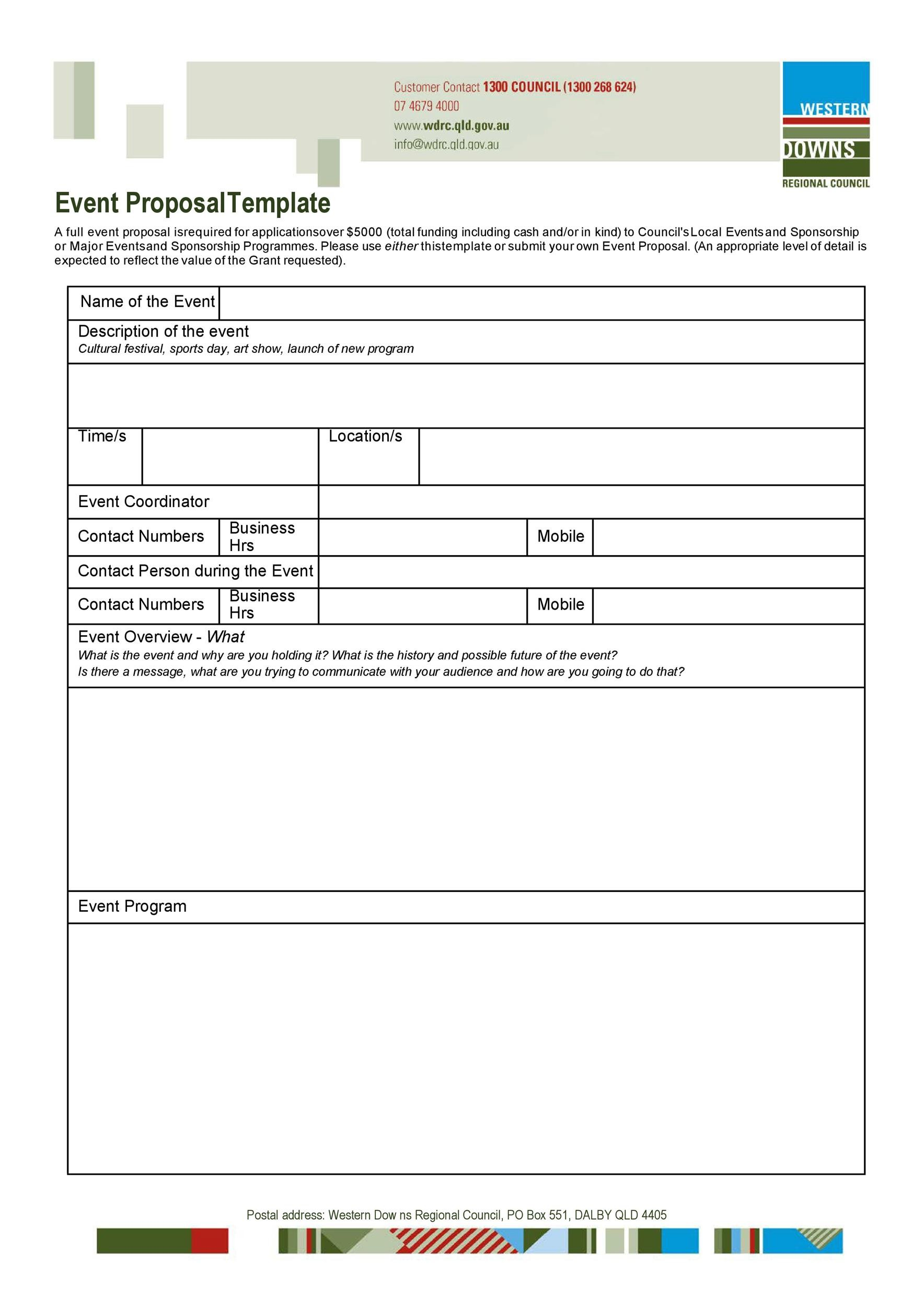 Free event proposal template 14