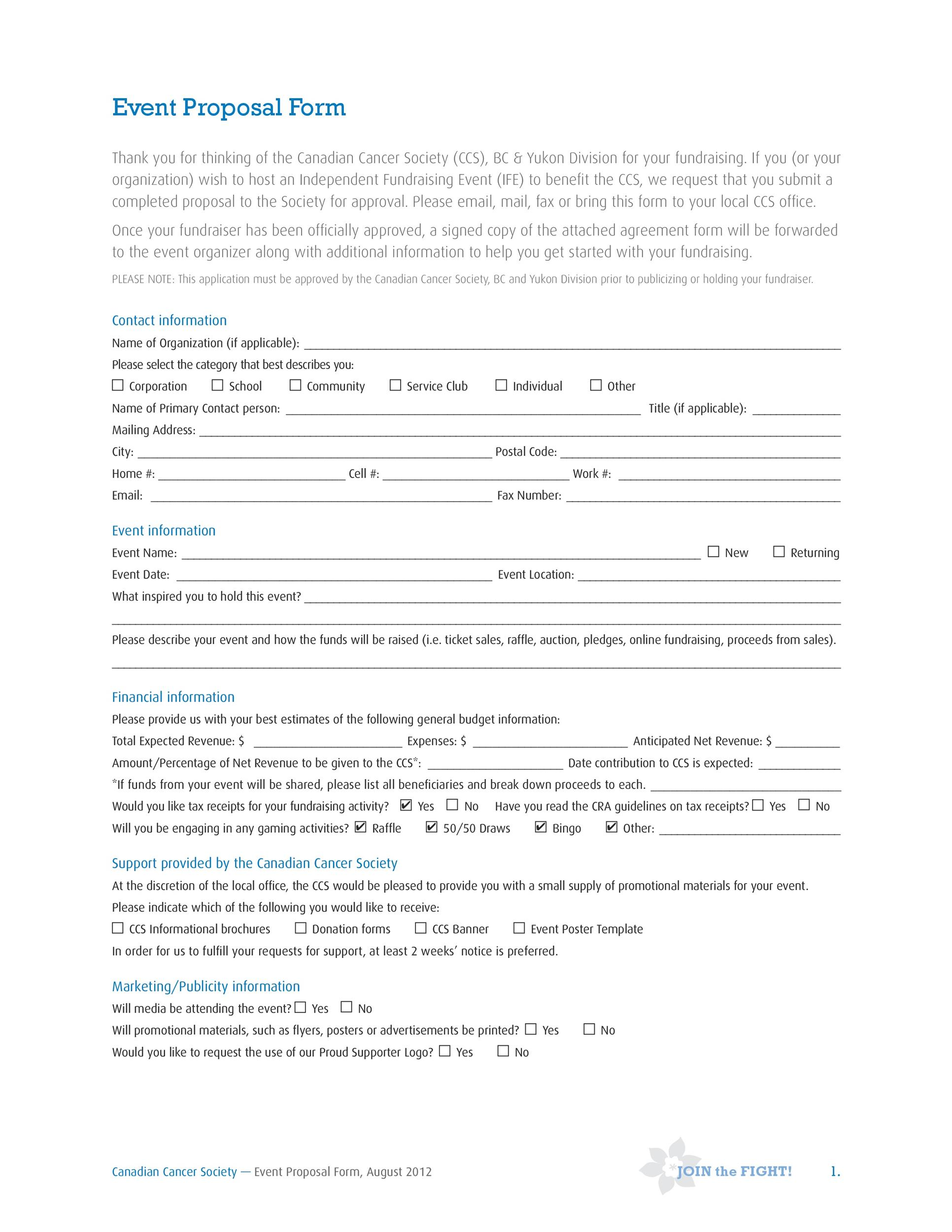 Free event proposal template 16