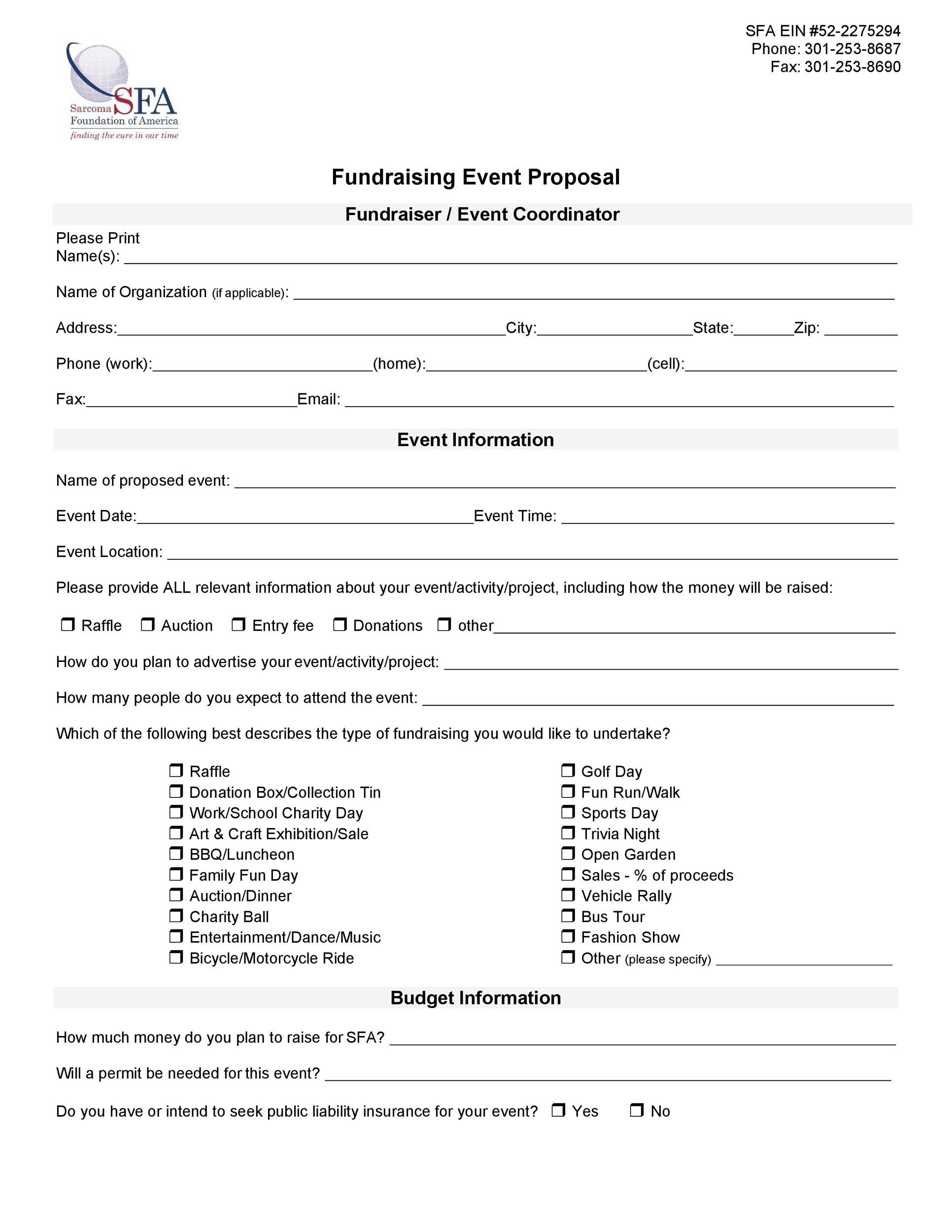 Free event proposal template 19
