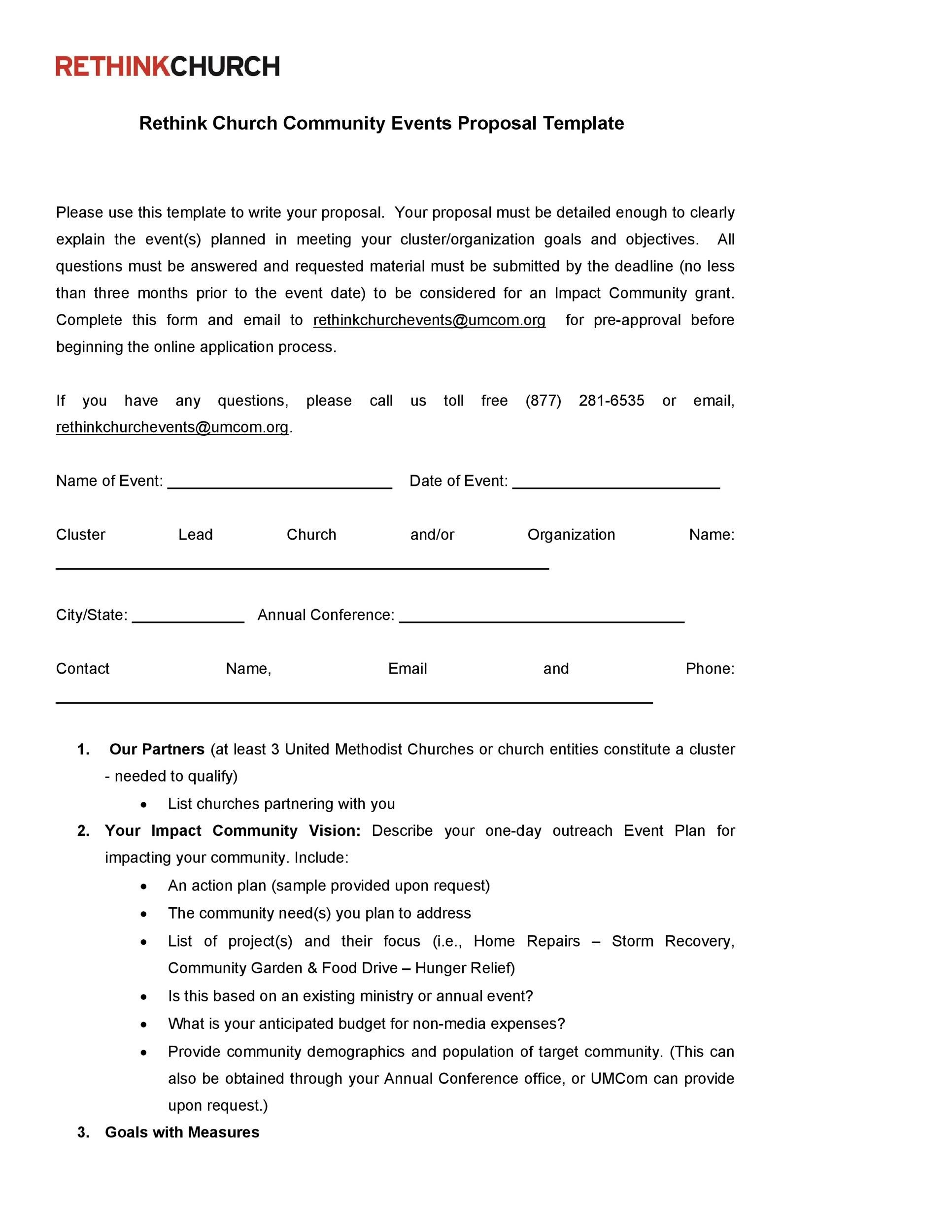 Free event proposal template 21