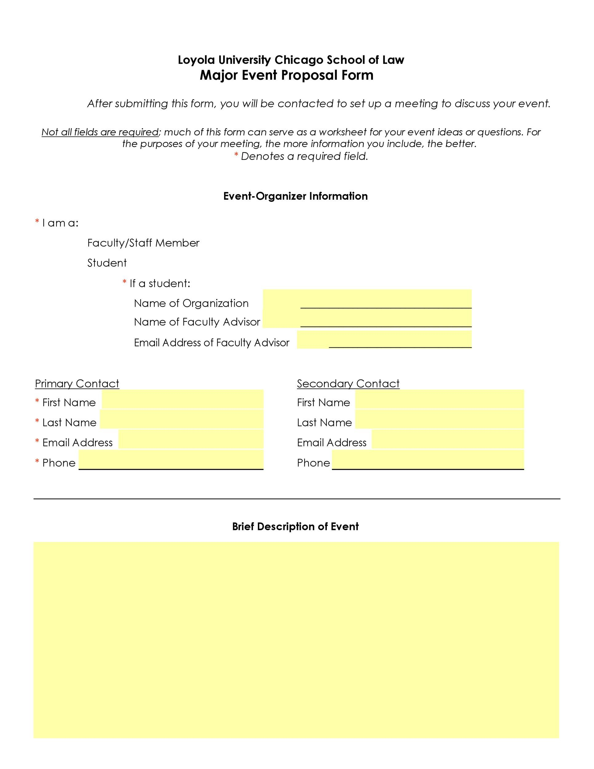 Free event proposal template 31