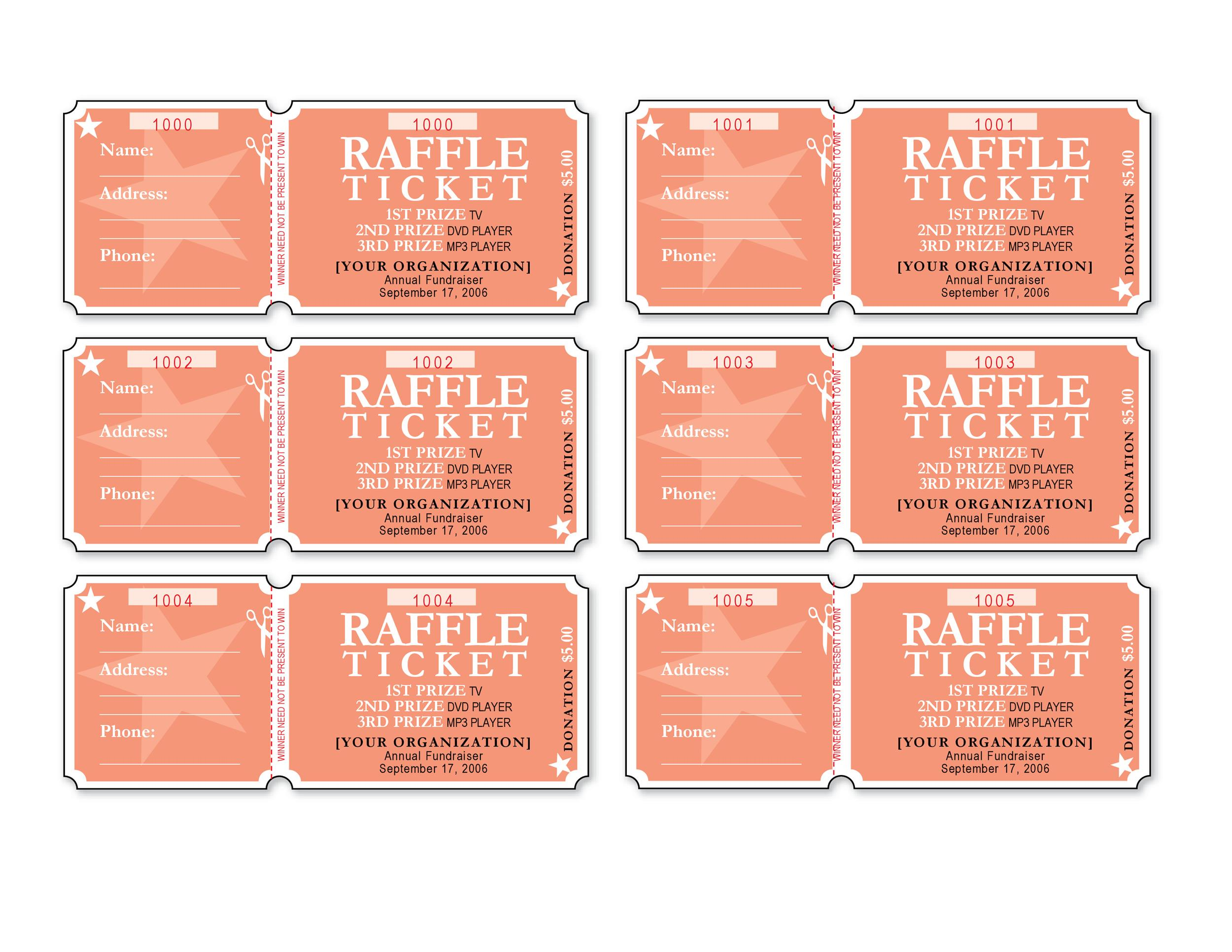Free event ticket template 13