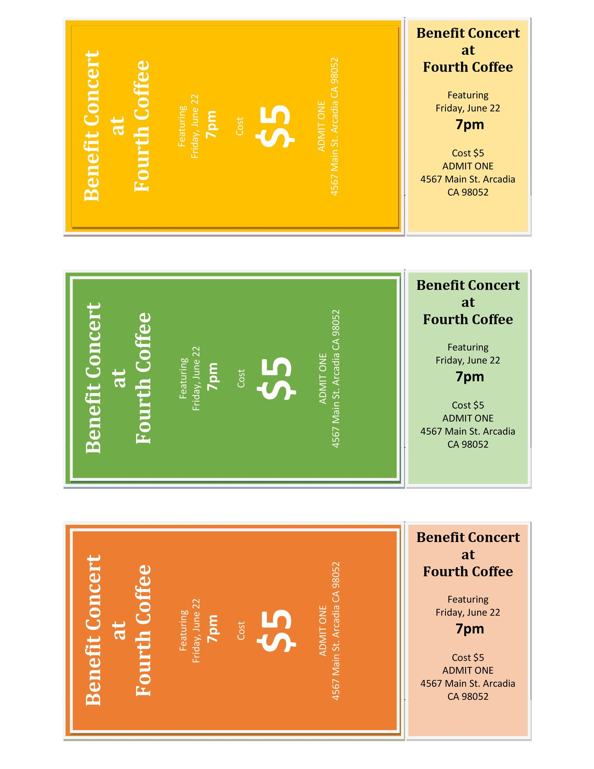 Free event ticket template 14