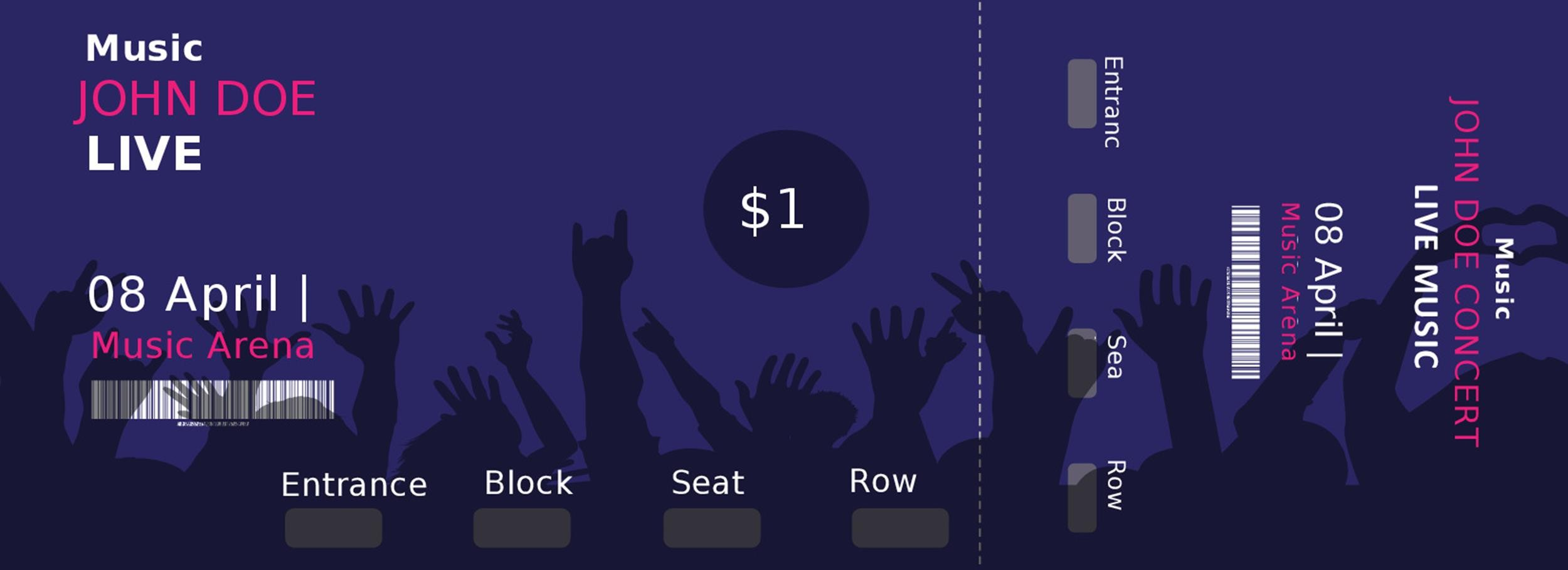Free event ticket template 25