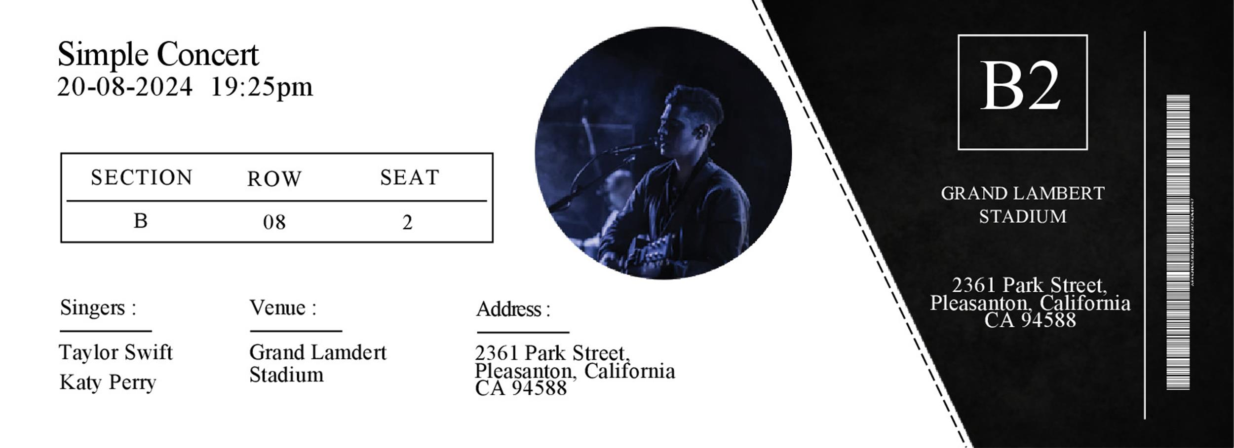 Free event ticket template 27