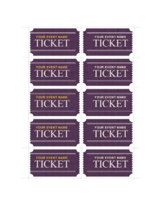 event ticket template 31