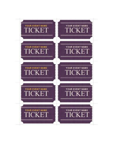 Event Ticket Templates