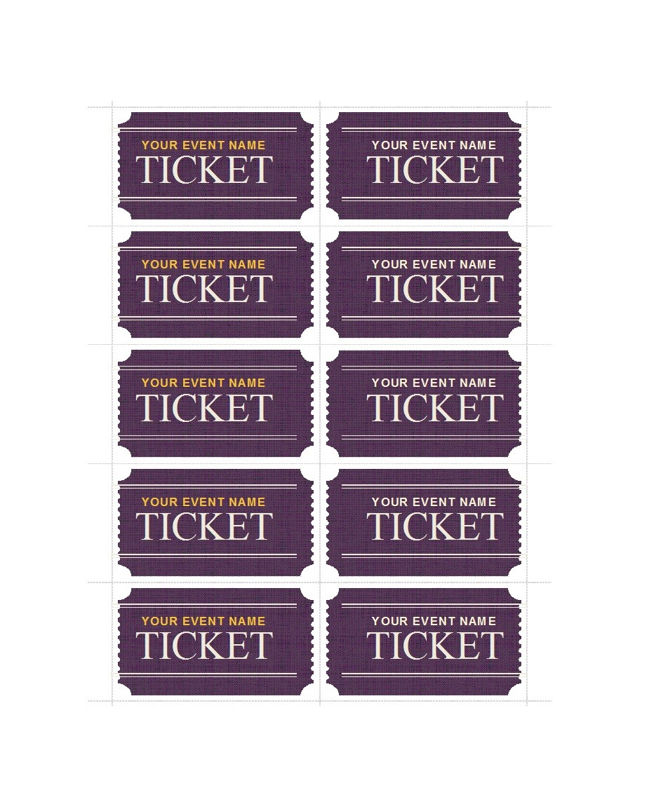 Free event ticket template 31