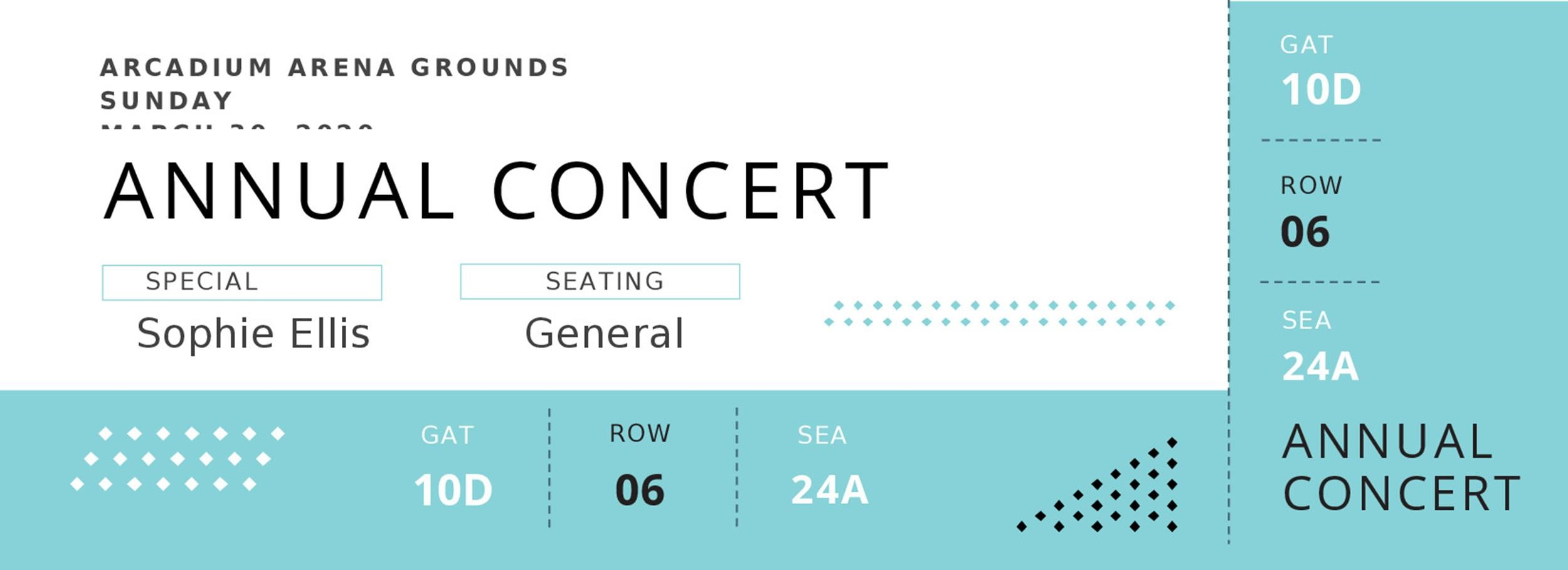 Free event ticket template 32