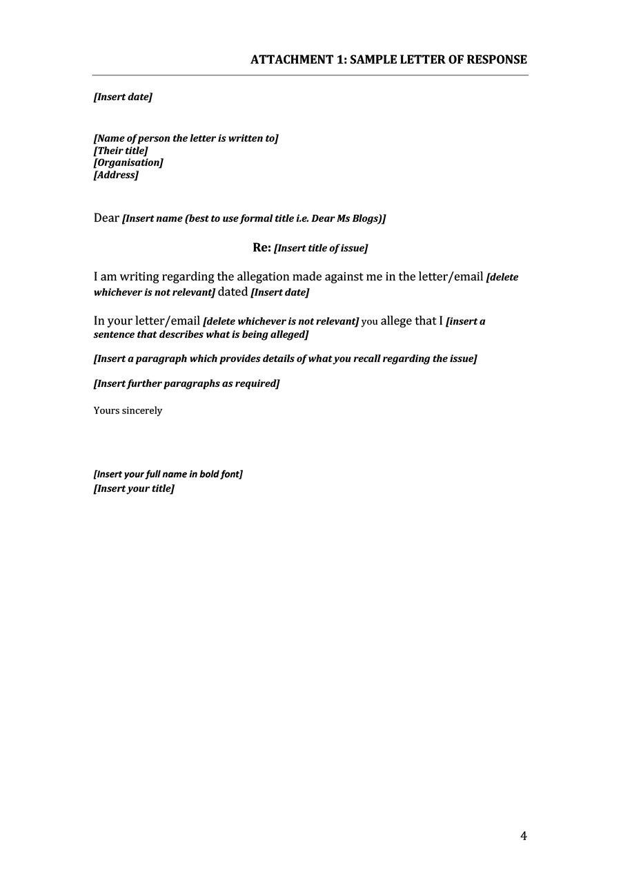 Grievance Letters For Unfair Treatment Free Letter 20