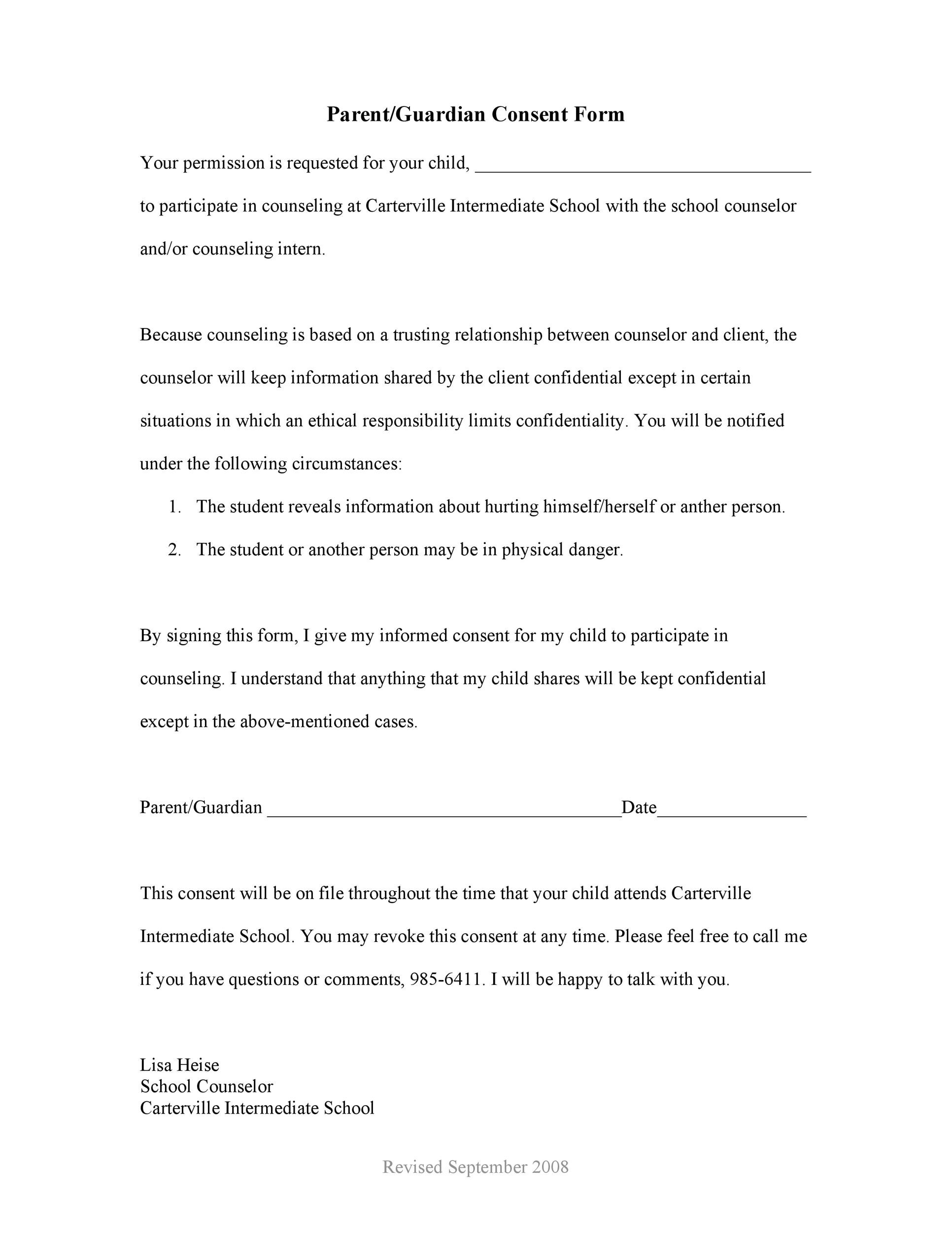 Free parental consent form template 03