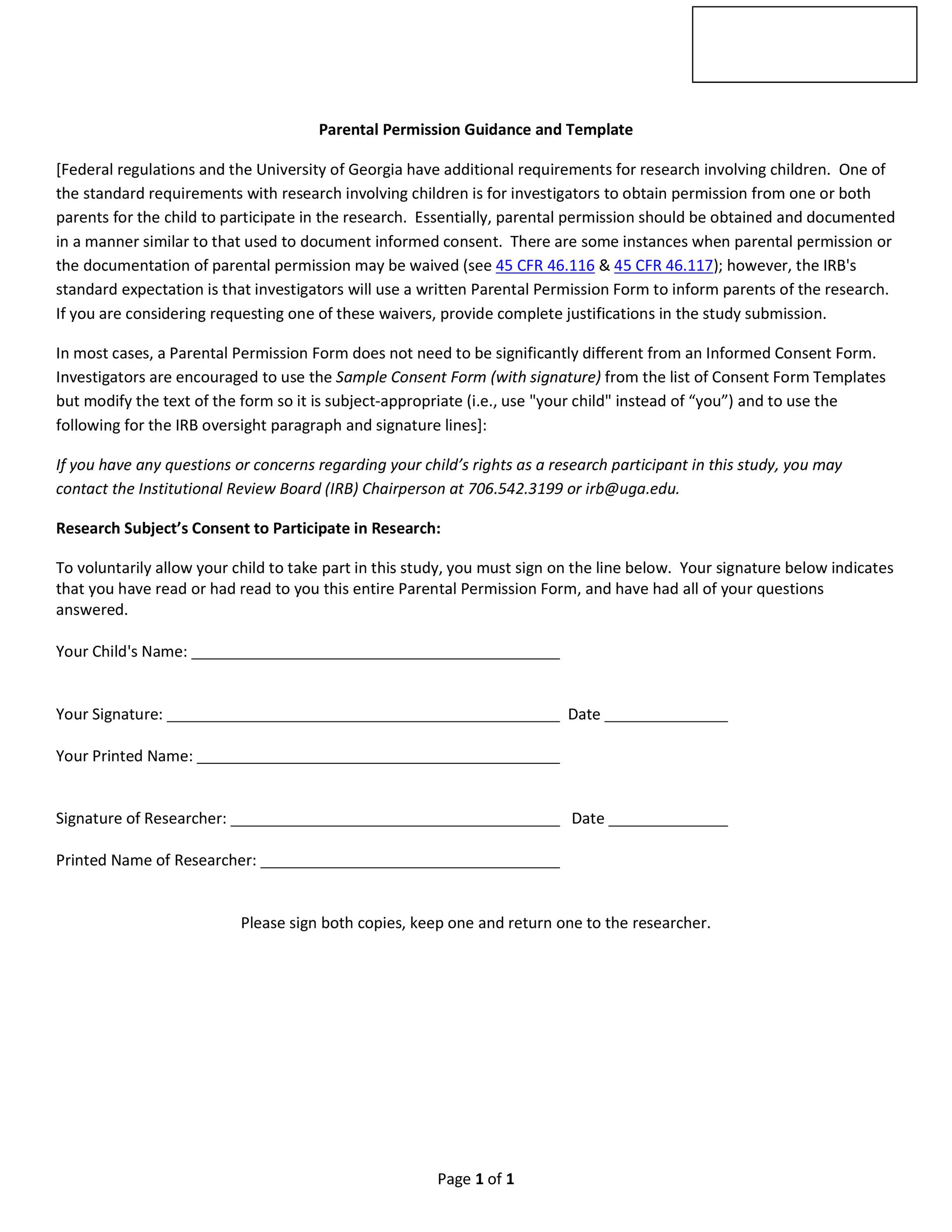 Free parental consent form template 28
