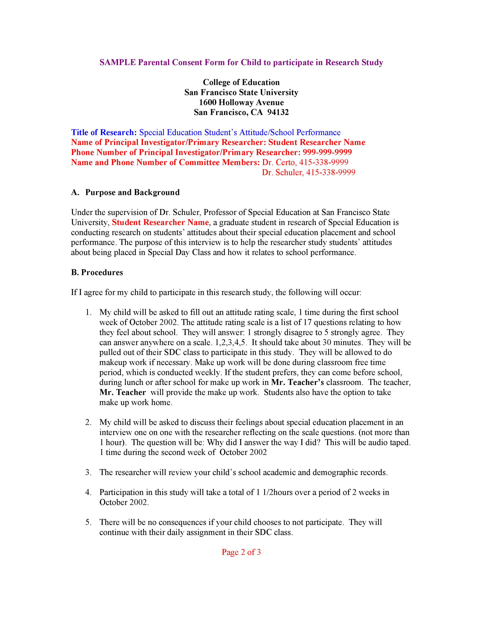 Free parental consent form template 36