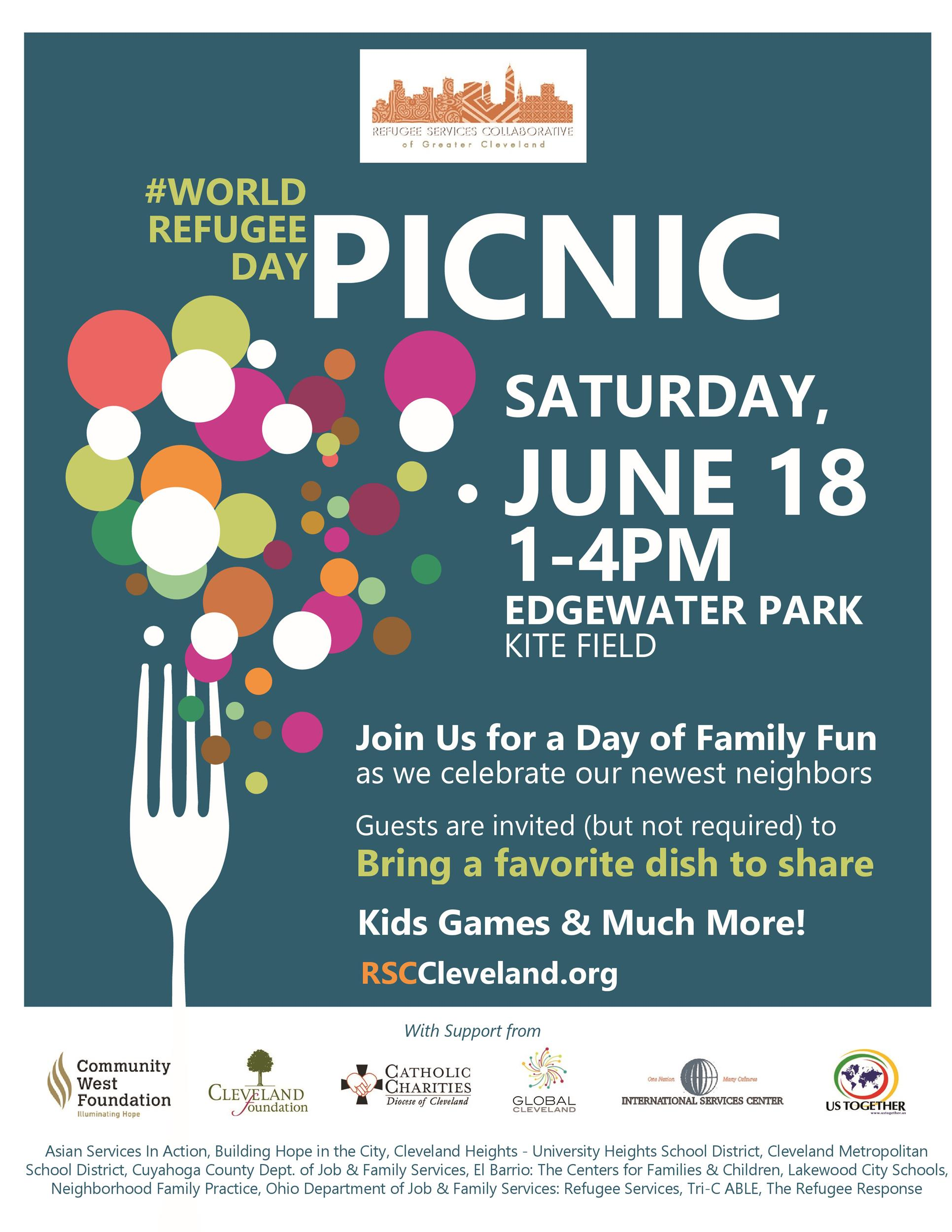 Free picnic flyer template 01