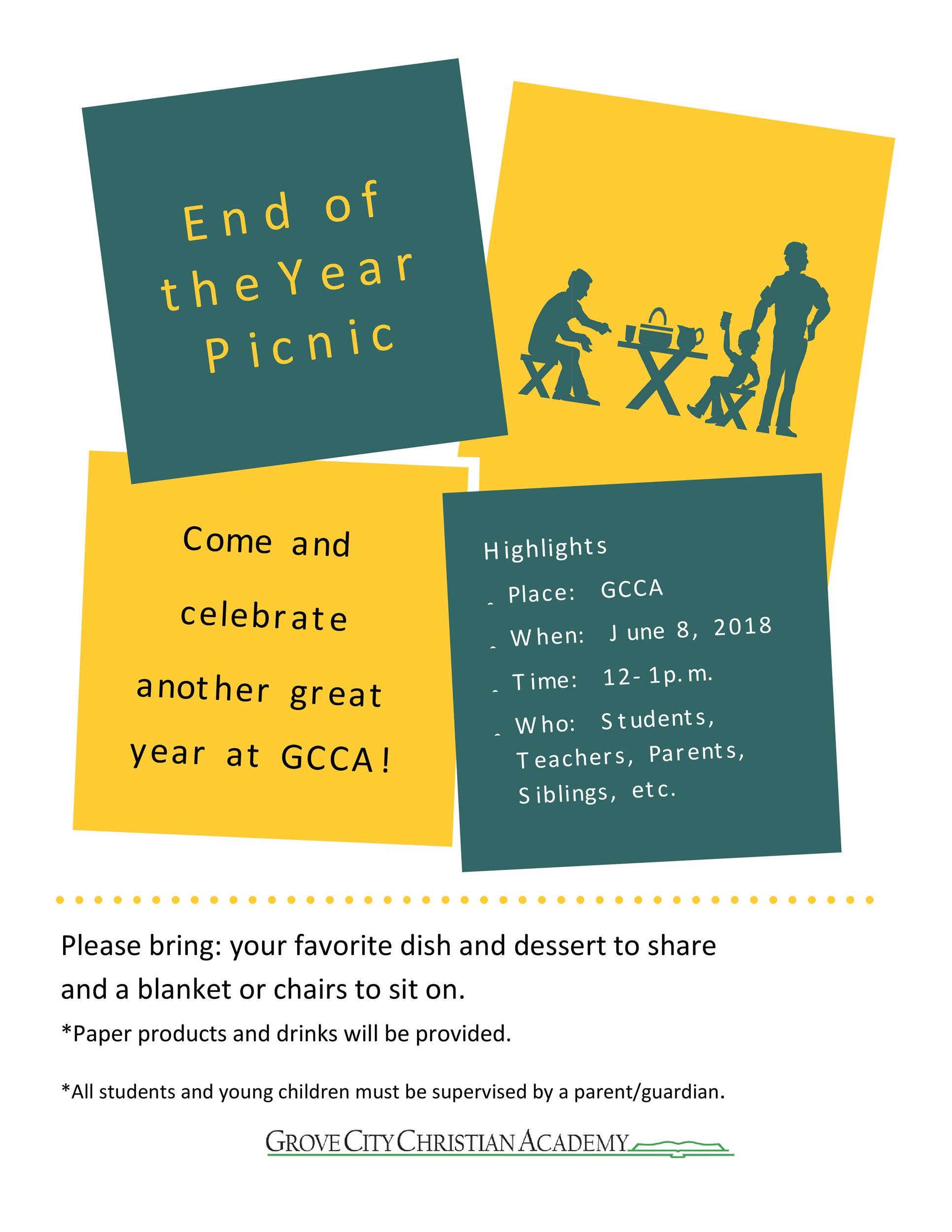 Free picnic flyer template 09